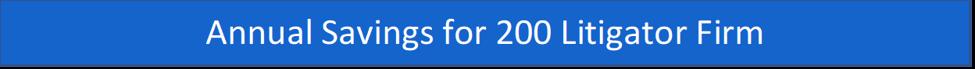 annual savings for 200 litigator firm