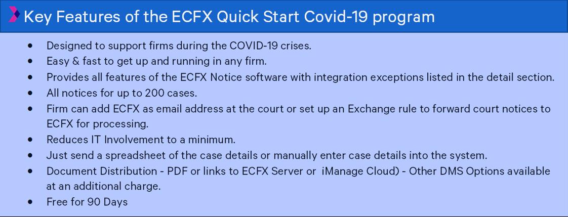 key features covid program